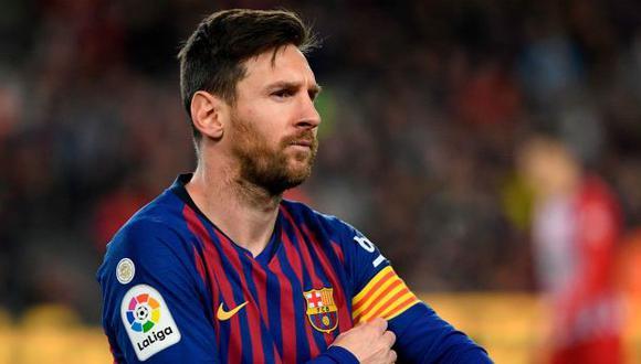 Lionel Messi se aleja de Barcelona. (Foto: AFP)
