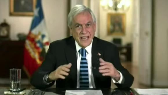 Sebastián Piñera, presidente de Chile, habla durante la Cumbre virtual de Líderes sobre el Clima en una captura de pantalla de video el jueves 22 de abril de 2021.  (Captura de video/YouTube).