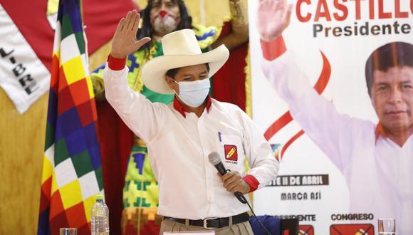 Pedro Castillo aseguró que firmará documento en el que jura dejar el poder el 2026, respetar las instituciones y la Constitución. (Foto: César Bueno / @photo.gec)