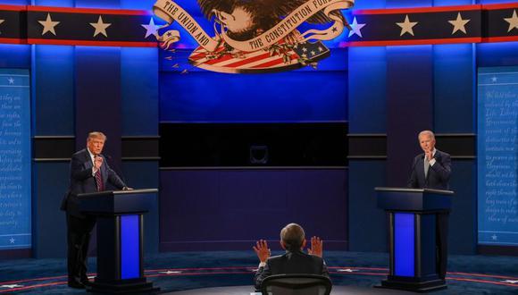 Joe Biden y Donald Trump debatieron el martes en Cleveland durante 90 minutos, en el primero de tres encuentros antes de las elecciones del 3 de noviembre en Estados Unidos. (Foto: JIM WATSON / AFP).