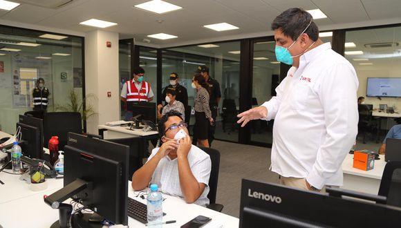 Sunafil inspecciona call centers. (Foto: Difusión)