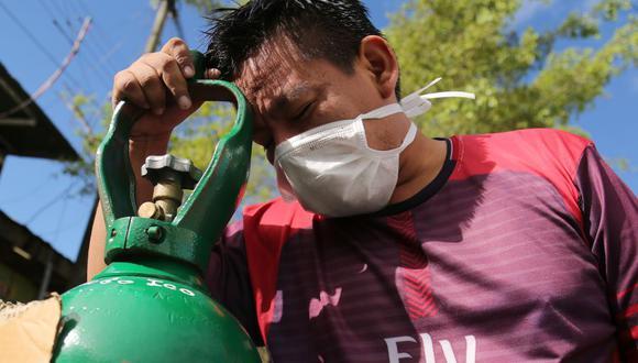 """Gobernador de Huánuco: """"Necesitamos oxígeno. Nos sentimos abandonados por el Gobierno central"""". (Foto: Cesar Von BANCELS / AFP)."""