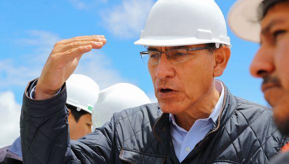 """""""Vamos a generar beneficios para esta región y el Perú, pero también para el área de influencia directa, específicamente del distrito de Chinchero"""", señaló Vizcarra. (Foto: Presidencia de la República)"""