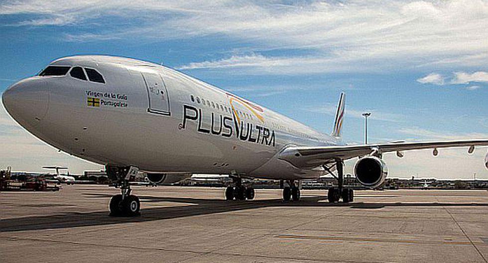 Aerolínea Plus Ultra realiza vuelos directos Lima-Madrid