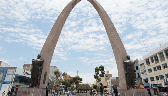 La plaza de Armas de la ciudad de Tacna. (Foto: El Comercio)