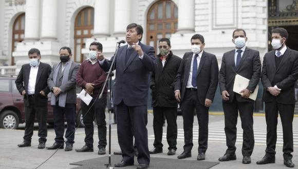 La bancada de Perú Libre insiste en su proyecto de convocar a un referéndum para cambiar la Constitución Política de 1993. (Foto: Anthony Niño de Guzmán / @photo.gec)