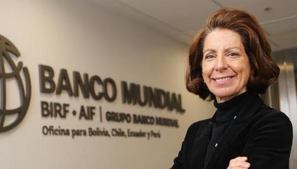 Marianne Fay es directora del Banco Mundial para los países andinos.