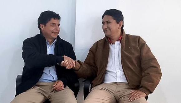 Vladimir Cerrón y Pedro Castillo  (Foto: Twitter)