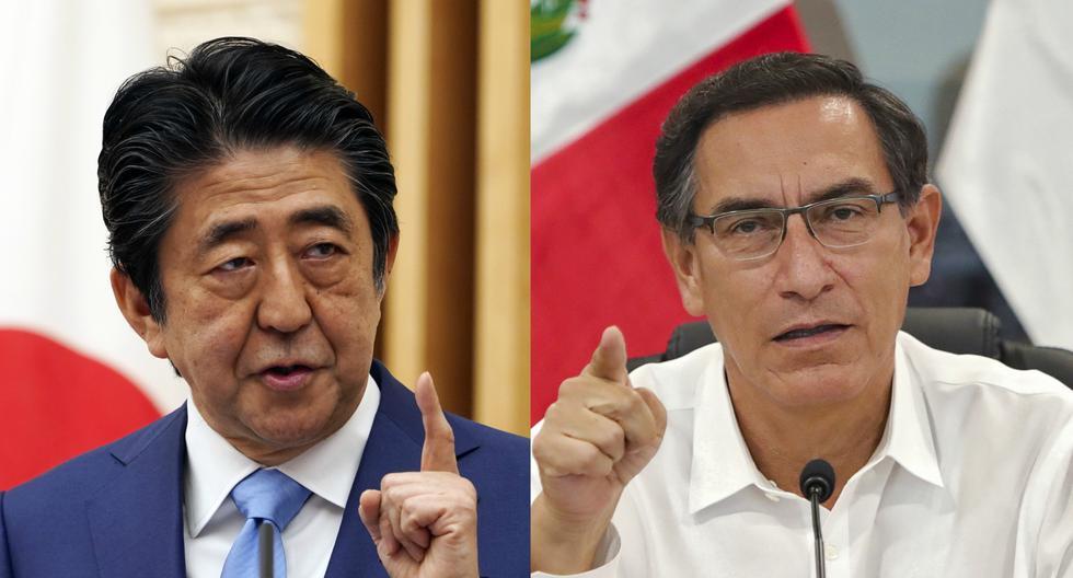 """Shinzo Abe y Martín Vizcarra destacaron en la conversación telefónica que la lucha contra el coronavirus es """"el tema prioritario"""" para ambos Gobiernos en estos momentos. (AFP / EUGENE HOSHIKO / PRESIDENCIA PERÚ)."""