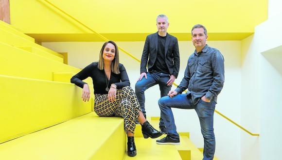 Equipo. Claudia Maldonado (Real Plaza), Alfonso Fernández (After Brand) y Ricardo Chadwick (Fahrenheit DDB). (Foto: Manuel Melgar)