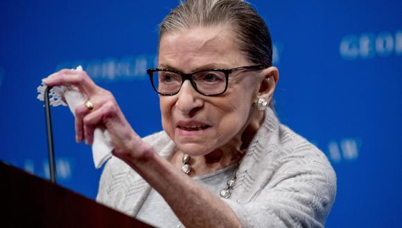 Jueza progresista de la Corte Suprema de Estados Unidos, Ruth Bader Ginsburg. (Foto: AP)