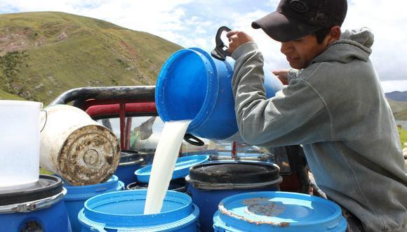 La producción de leche fresca se incrementó en 18 departamentos (Foto: Andina).