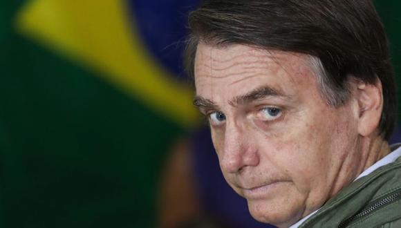 Bolsonaro acompañó las palabras que publicó con un video de una entrevista concedida a la televisión por la ministra de los Derechos Humanos, la Familia y la Mujer, Damares Alves. (Foto: AFP)