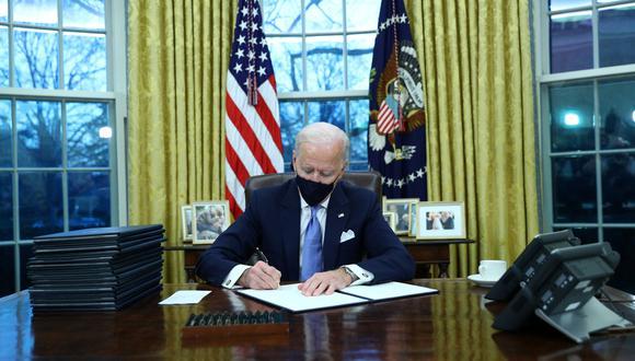 El presidente de Estados Unidos, Joe Biden, en la Oficina Oval. (Foto: REUTERS)