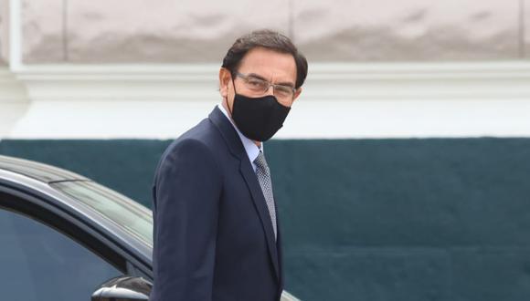 Martín Vizcarra se presentó este martes ante la Comisión de Fiscalización del Congreso de la República. (Foto: Alessandro Currarino / @photo.gec)