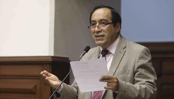 Jorge Vásquez Becerra anunció su alejamiento de la bancada de Acción Popular. (Foto: Congreso de la República)