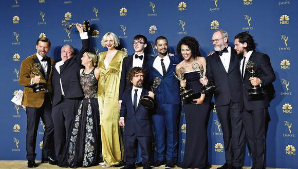 """Notable. La serie """"Game of Thrones"""" se llevó otra vez el premio más importante de la noche, como Mejor Serie Dramática. (Foto: AFP)"""