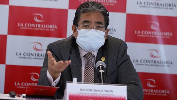 El contralor Nelson Shack señala que en el caso 'Vacunagate' se pondrá principal atención en investigar a los funcionarios. Fotos: Eduardo Cavero/GEC