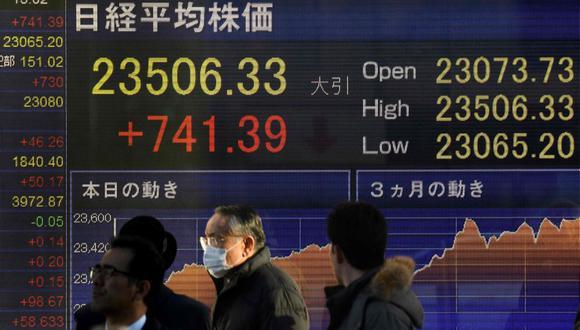 El Nikkei subió un 3,26 por ciento a 23.506,33 puntos, su nivel más alto desde enero de 1992. (Foto: AFP)