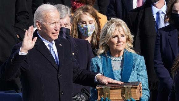 Joe Biden jura como presidente de Estados Unidos. (Foto: Reuters)