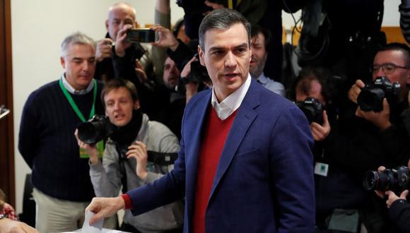 Pedro Sánchez ganó las elecciones españolas. (Foto: EFE)