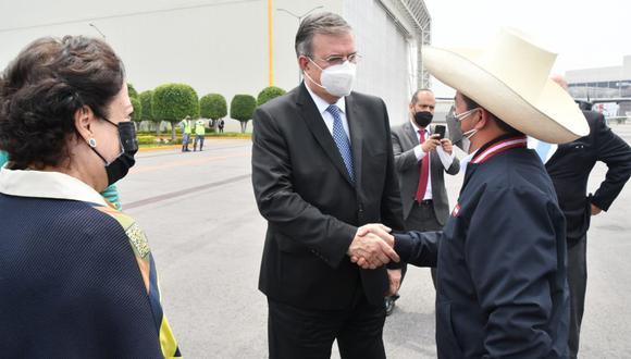 El presidente Castillo se encuentra en una gira que incluye una vista a Estados Unidos. Foto: Relaciones Exteriores de México