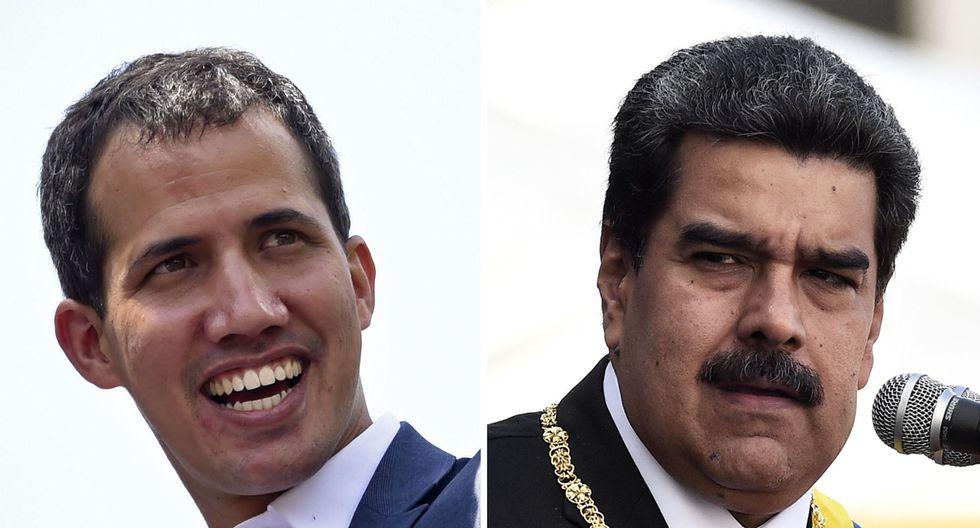 Hace un año, Juan Guaidó se autoproclamó presidente encargado de Venezuela ante miles de seguidres. (Foto: AFP).