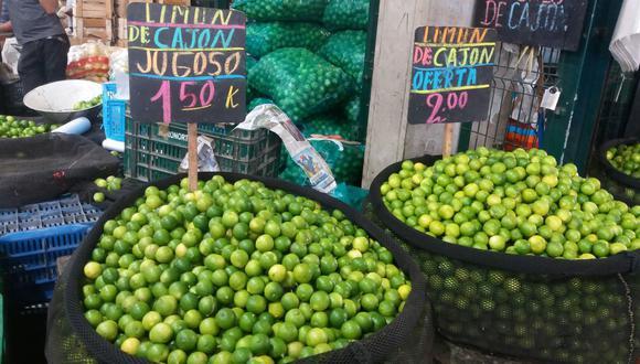 Abastecimiento de limón se normalizó en la capital.