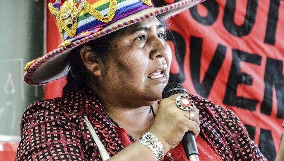 Lourdes Huanca, presidenta de FENMUCARINAP.