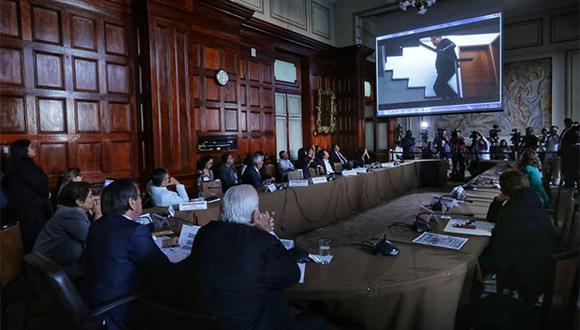En la sesión de hoy en la Comisión de Defensa se visualizaron los videos del operativo en la casa de Alan García. (Foto: Anthony Niño de Guzmán / GEC)