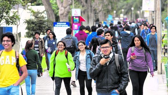 Una universidad en Perú es equivalente a una facultad de las universidades de México y Argentina, señaló la ASUP. (Foto: GEC)