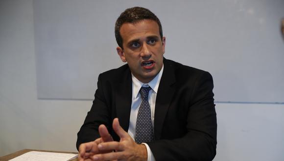 Carlos Scull representa al presidente encargado de Venezuela, Juan Guaidó. (Foto: El Comercio)