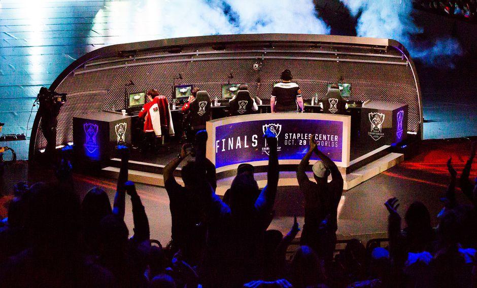 Campeonato mundial de League of Legends en el Staples Center en Los Angeles, California. (Foto: Bloomberg)