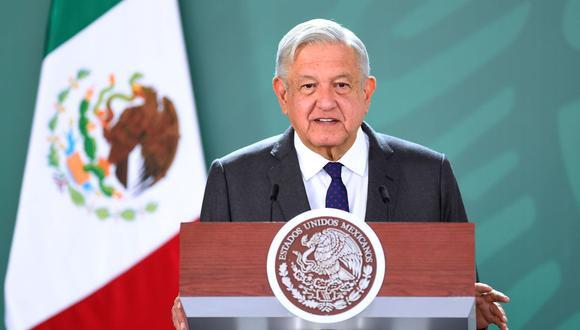 Imagen muestra al mandatario mexicano, Andrés Manuel López Obrador (AMLO), durante una conferencia de prensa matutina (EFE/ Presidencia de México).