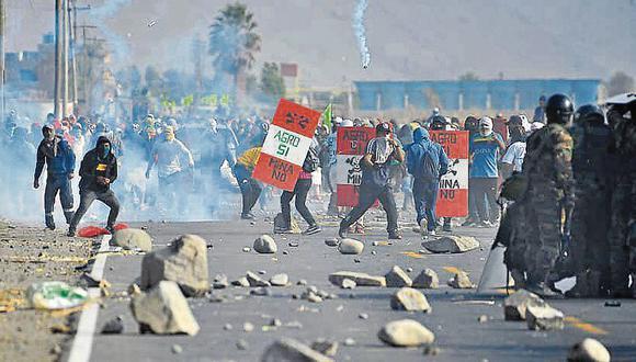 Protestas en Arequipa. (Foto: Diego Ramos)