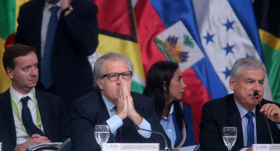 """Almagro lamentó """"el dolor"""" y """"el sufrimiento del pueblo venezolano"""", tras la grave crisis económica que afrontan. (Foto: EFE)"""