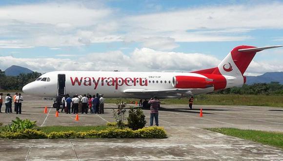 El Aeropuerto Juan Simons Vela de Rioja, en la región San Martín, recibió un vuelo comercial después de 24 años. (Foto: Difusión)