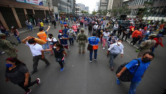 Municipalidad de Lima pide mayor presencia policial y militar en la zona de conglomerados comerciales: Mesa Redonda, Mercado Central y Triángulo de Grau. (Foto: Hugo Curotto/GEC)
