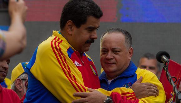 Imagen de Diosdado Cabello junto a Nicolás Maduro en Venezuela. (EFE / Miguel Gutiérrez).