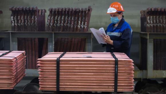El cobre alcanzó un récord a principios de este año, cuando las economías salían de los bloqueos por el COVID-19. (Foto: Bloomberg)