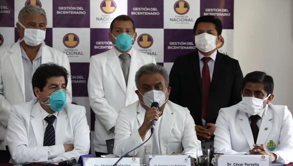Representantes del Colegio Médico del Perú dieron conferencia de prensa. (Foto: Joel Alonzo / GEC)