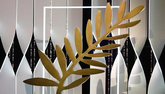 La tradicional Palma de Oro que se entrega a los ganadores en el Festival de Cannes. (Foto: AFP)