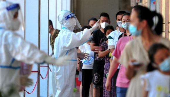 La Comisión Nacional de Salud reportó el miércoles 50 nuevas infecciones en varios puntos de Fujian, la mayoría en la región de Putian. (Photo by - / CNS / AFP) / China OUT