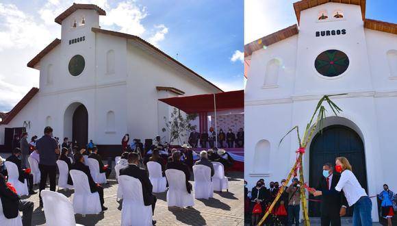 La restauración contempló la reconstrucción integral del templo, así como de la sacristía y el salón de usos múltiples. (Foto: Facebook Municipalidad Provincial de Chachapoyas)