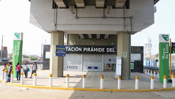 La Municipalidad de San Juan de Lurigancho anunció que la estación Pirámide del Sol de la Línea 1 del Metro de Lima está apta para su funcionamiento desde este lunes 16 de diciembre. (Foto: Municipalidad de SJL)