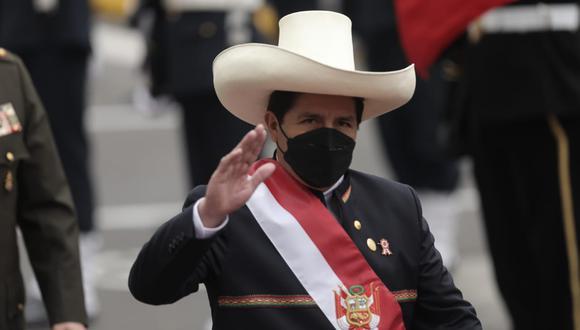 Presidente Pedro Castillo anuncia que su Gobierno declarará en emergencia la educación pública. (Foto: Anthony Niño de Guzmán/ @photo.gec)