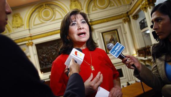 La congresista Martha Chávez cuestionó la designación de Vicente Zeballos ante la OEA. (Foto: GEC)