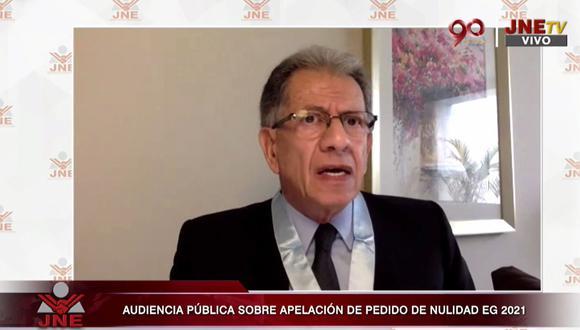 Óscar Urviola y Lourdes Flores Nano defendieron las acusaciones de Fuerza Popular de supuesto fraude en la segunda vuelta. (JNE)
