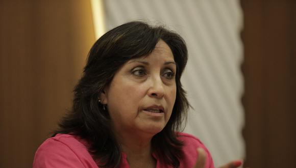 """Dina Boluarte consideró que todos los implicados en el caso 'Los dinámicos del centro' """"tienen que estar separados de sus cargos y la militancia del partido""""."""