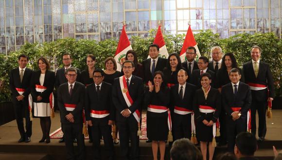 El gabinete está liderado por el primer ministro, Vicente Zeballos, y tiene diez nuevas designaciones. (Foto: GEC)